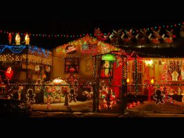 Christmas light overload by greenunderground