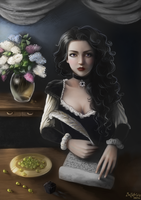 Yennefer of Vengerberg by Elvanlin