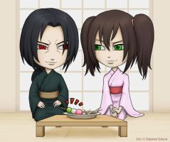 Itachi and Hitomi by Stephany-Q-Vin