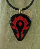 WoW Horde Fused Glass by FusedElegance