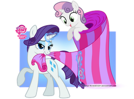 Rarity and SweetieBelle by RavenEvert