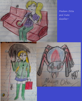 Madam Octa and Kate doodles by yugiohcloudfangirl
