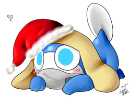 Zeroro in a christmas hat by Freeze-pop88