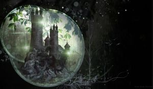 Fantasy Castle PreMade Background by VaL-DeViAnT