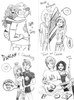 Total Drama Island Couples by cococheese