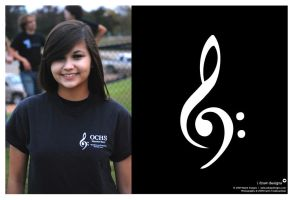 OCHS Band Logo - On Shirt by mirako-hikaru