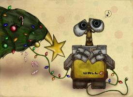 WALL-E Xmas - Secret Santa by slushiesushi