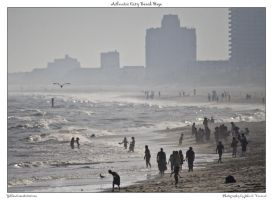 Atlantic City Beach Haze by yellowcaseartist