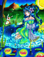 The water mistress Cyan Aguamarina by miyukiZETA