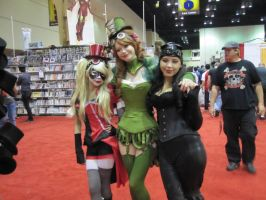 Steampunk Gotham City Sirens at MegaCon by deadpool24