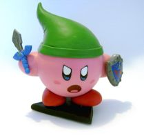 Kirby Link Ocarina of Time by vrlovecats