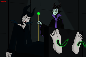 Maleficent vs Maleficent by countfire