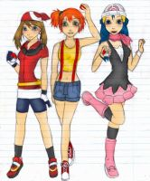 May, Misty and Dawn by Cuine