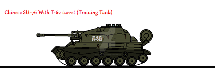 Chinese SU-76 With T-62 turret (Training Tank) by thesketchydude13
