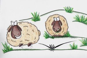 Bouncing Cartoon Sheep by bnspencer