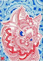 ACEO: Holy Cat by lutamesta