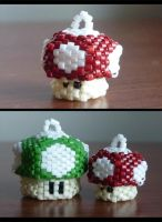 Mini Mini Mushrooms--Prototype by EraserRain27