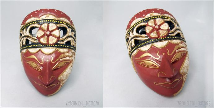 Wooden Eggshell Goddess of Flower Mask --*SOLD OUT by Vi2DoubleYu