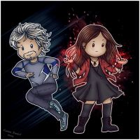 Maximoff Twins by Isriana