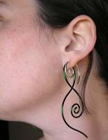 Green 14g Squid Earrings by lavadragon