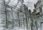 Neo City Drawing - 1 by tekmon1980