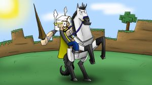 Minecraft - Jousting by prezleek