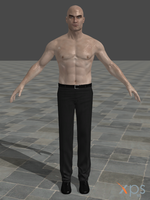 Hitman: Absolution - Agent 47 shirtless (MOD) by junkymana