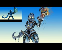 Bionicle: Toa Gali (MNOLG Scene Redraw) by Danny-Jay
