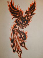 Tribal Pheonix by MKRDESIGNS
