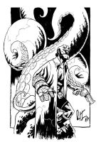 A Hellboy Left in Inks by dio-03