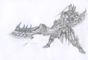 Azure Rathalos ( Armor and Great Sword ) by Demonconstruct