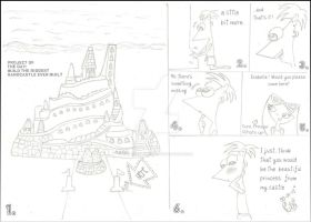 The sandcastle - minicomic PnF by CinderellaBella