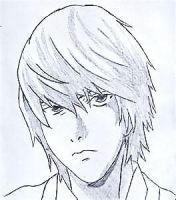 Light Yagami Sketch by MitchieProblemSolver