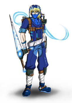 Strider Aozora for Superjustinbros by punkbot08