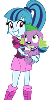 Sonata Dusk and Spike - Equestria Girls 2 by ZeldaronDL