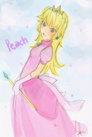 Princess Peach by velynn