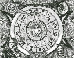 Goddess Protection Pentacle by grimdeva