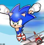 Sonic Jumping Into Action by Segavenom