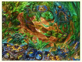 The Garden Of Non-Earthly Delights by bluefish3d