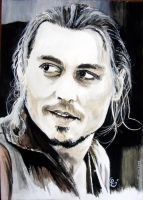 Johnny Depp painting by LizDouceFolie