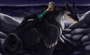 Jenna's Pen-Gryphon Demitrie by Leashe