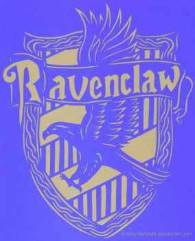 Ravenclaw Crest Papercutting by satu-fairytale