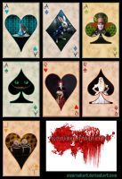 Alice cards by MeernahArt