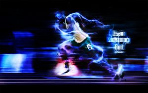 Usain Lightning Bolt by real-squazer