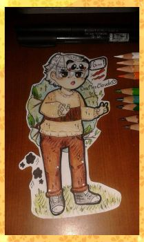 [TRADITIONAL MEDIA] [Panda kid 1.2] by CrafterCloud45