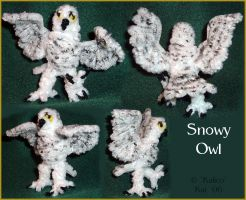 Snowy Owl--Pipecleaners by kalicothekat