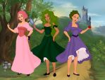 Hairyette, Horrifica and Dizzle in Fairytale Sce by CottonCatTailToony
