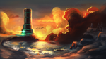 Golden Sun - Mercury lighthouse by GLV-DA