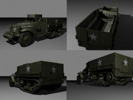 M3A1 Halftrack Textured by FrZnChAoS