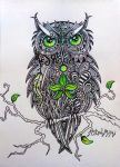 Forest Element-Owl by AstralMimi